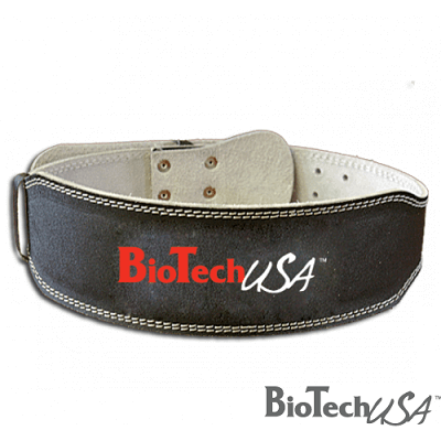 BIOTECH USA LEATHER LIFTING BELT - Black Image