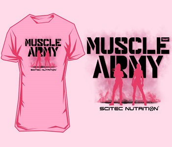 "SCITEC MUSCLE ARMY WOMEN T-SHIRT ""AZALEA"" - Pink Image"
