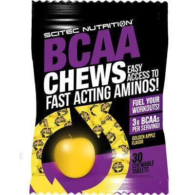SCITEC NUTRITION BCAA CHEWS - 30 chewable tabs Image