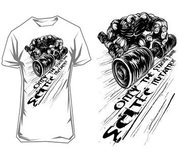 """SCITEC NUTRITION T-SHIRT """"ONLY THE STRONG SURVIVE"""" - White Image"""